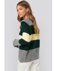 Raglan Sleeve Striped Knitted Sweater NA-KD en coloris Multicolor