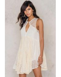 Free People | Multicolor Don't You Dare Lurex Strapless Mini Dress | Lyst