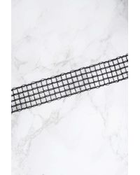 NA-KD - Black Mesh Net Choker - Lyst