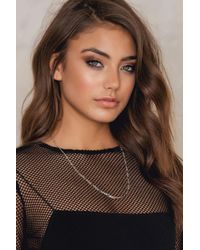 NA-KD - Metallic Chain Necklace - Lyst