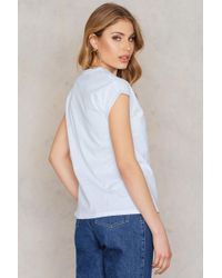 NA-KD - White Sweet Nothing T-shirt - Lyst