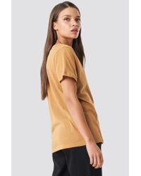 NA-KD - Multicolor V-neck Tee Tan - Lyst
