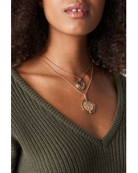 Mango - Metallic Louis Necklace Gold - Lyst