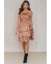 NA-KD Multicolor Party Smock Satin Mini Skirt