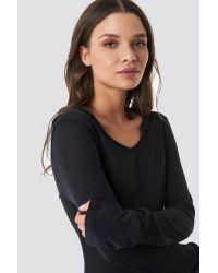 Low Back Jersey Dress NA-KD en coloris Black