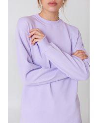 NA-KD Long Basic Sweater Purple