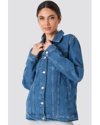 Trendyol Yol Oversized Denim Jacket in het Blue