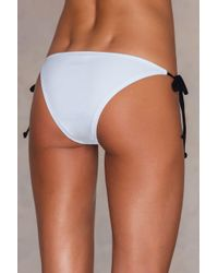 NA-KD - White Contrast Strap Triangle Pantie - Lyst