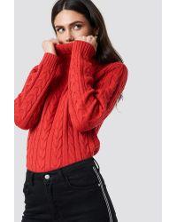 Polo Braid Knit Rut&Circle en coloris Red