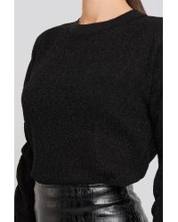 Rut&Circle Black Elina Lurex Sweater