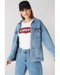 Levi's Blue Baggy Trucker Jacket Med Indigo