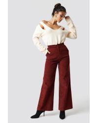 Trendyol Multicolor Shoulder Cut-out Sweater Beige