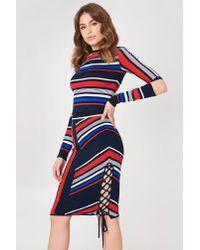 Tommy Hilfiger Blue Gigi Hadid Intarsia Skirt