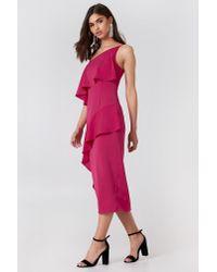 Keepsake Pink No Love Midi Dress Raspberry