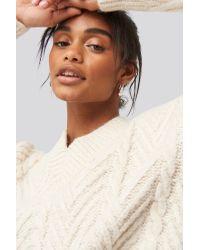 Trendyol V-neck Oversize Sweater in het White