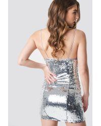 NA-KD Multicolor Pamela x Short Sequin Slip Dress