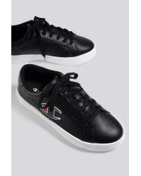 Champion Black Era Low Cut Leather Sneaker