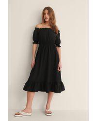 Trendyol Off-shoulder Midi-jurk in het Black
