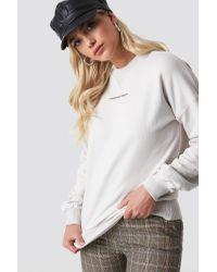 NA-KD White Trend Passionate Sweatshirt