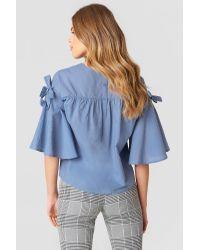 Rut&Circle Isa Knot Shirt Blue