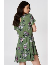 MINKPINK Green Wanderer Circle Frill Dress Multi