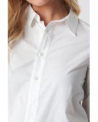 NA-KD Basic Long Shirt White