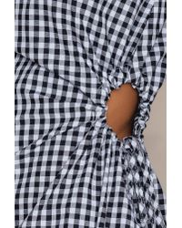 Trendyol - Black Siyah Pleated Waist Dress - Lyst