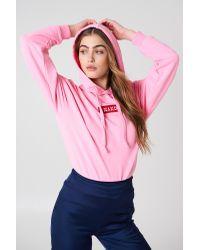 NA-KD Pink Logo Hoodie