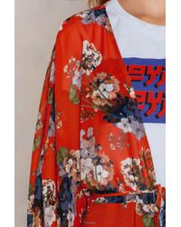 NA-KD - Red Chiffon Coat Dress - Lyst