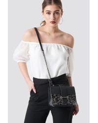 Trendyol Yol Animal Chain Shoulder Bag Black