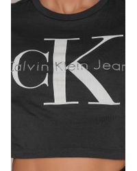 CALVIN KLEIN 205W39NYC - Multicolor Tyka True Icon Cropped Top - Lyst