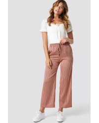 Mango Guzman Trousers Pink