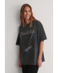 NA-KD Organisch T-shirt Met Print in het Gray