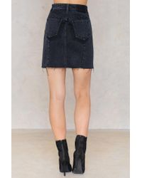 NA-KD - Black Two Tone Pocket Skirt - Lyst