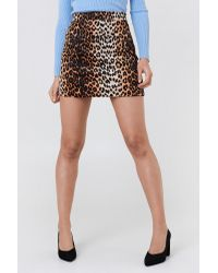 NA-KD Mini Leo Skirt Multicolor