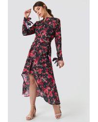 NA-KD Tie Detail Asymmetric Dress Multicolor