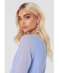 NA-KD - Metallic Hanging Pearls Earrings - Lyst
