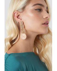 NA-KD Metallic Multi Spiral Ropes Earrings