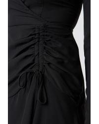 Trendyol Ruffle Detail Mini Dress in het Black