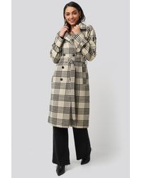 NA-KD Multicolor Trend Checked Belted Coat