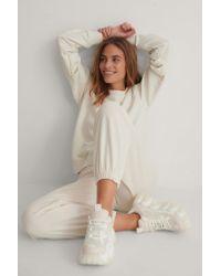 NA-KD Multicolor Reborn Organisch Langarm-Sweatshirt