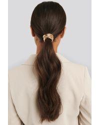 NA-KD Metallic Gold Hair Elastic Gold