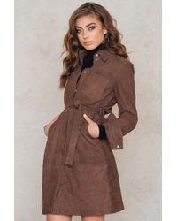 Gestuz   Brown Panama Dress   Lyst