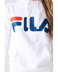 Fila Classic Logo Hoody White