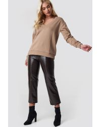 NA-KD Multicolor Basic V-neck Basic Sweater