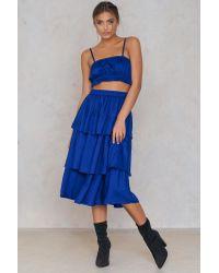 NA-KD Triple Layer Skirt in het Blue