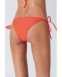 NA-KD - Orange Triangle Panty Hot Coral - Lyst