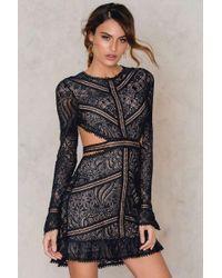 9e522810333a8 For Love & Lemons Emerie Cut-out Dress in Black - Lyst