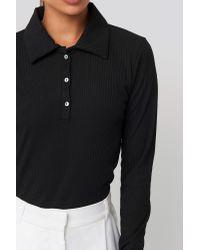 Trendyol Black Ribbed Long Sleeve Top
