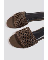 NA-KD Braided Slip In Sandals in het Brown